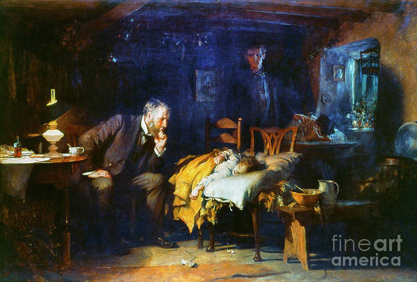 Wall Art - Painting - Fildes The Doctor 1891 by Granger