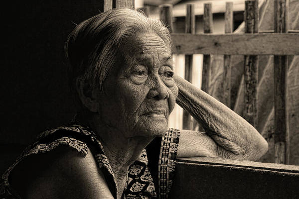 Photograph - Filipino Lola Image Number 33 In Black And White Sepia by James BO Insogna