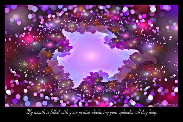 Digital Art - Filled With Your Praise by Missy Gainer