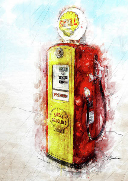Wall Art - Digital Art - Filler Up by Gary Bodnar