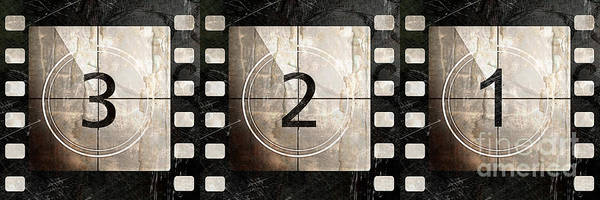 Camera Painting - Film Leader Countdown by Mindy Sommers