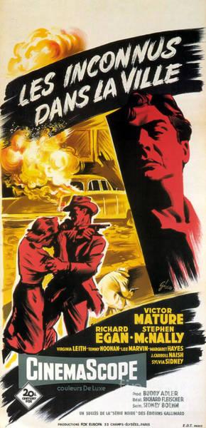 Harper Lee Wall Art - Painting - Film Noir Poster   Violent Saturday by R Muirhead Art