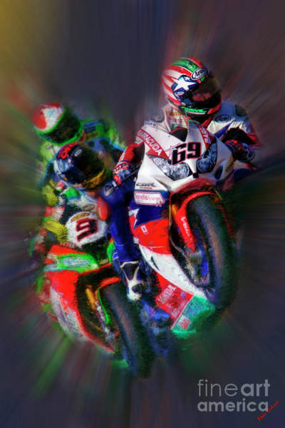 Photograph - Fim Superbike Nicky Hayden Leads The Way by Blake Richards
