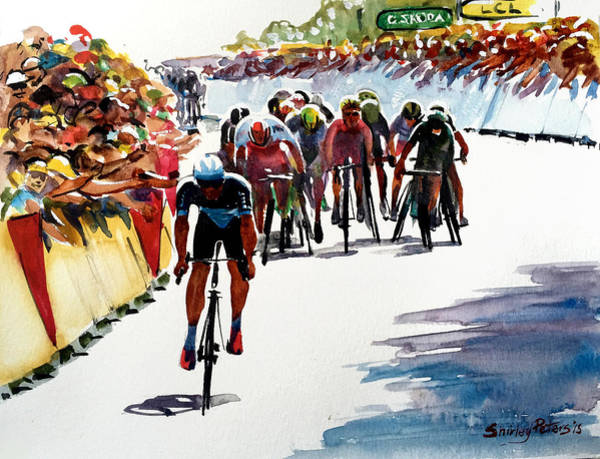 Le Tour De France Wall Art - Painting - Final Dash On Stage 6 - Lge by Shirley Peters