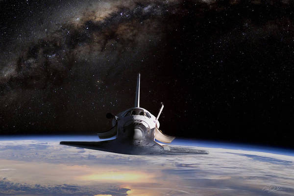 Space Ship Digital Art - Final Frontier by Peter Chilelli