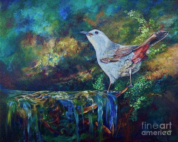 Wall Art - Painting - Gray Catbird by AnnaJo Vahle