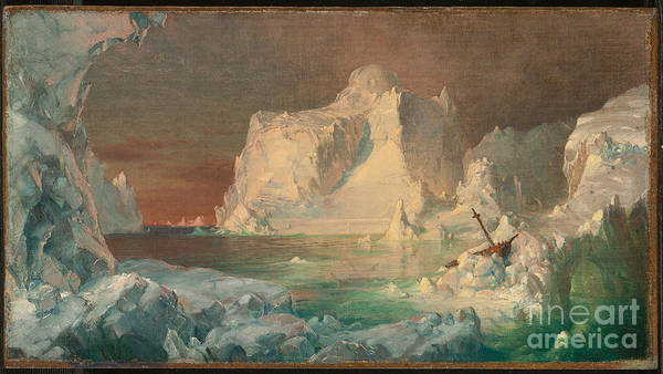 Painting - Final Study For The Icebergs by Celestial Images