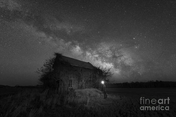 Photograph - Finally Home - Midnight Explorer Bw by Michael Ver Sprill