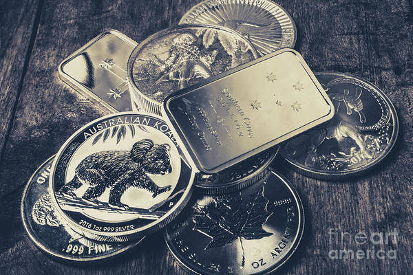Silver Photograph - Finance And Commodities by Jorgo Photography - Wall Art Gallery