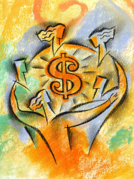 Wall Art - Painting - Financial Success by Leon Zernitsky