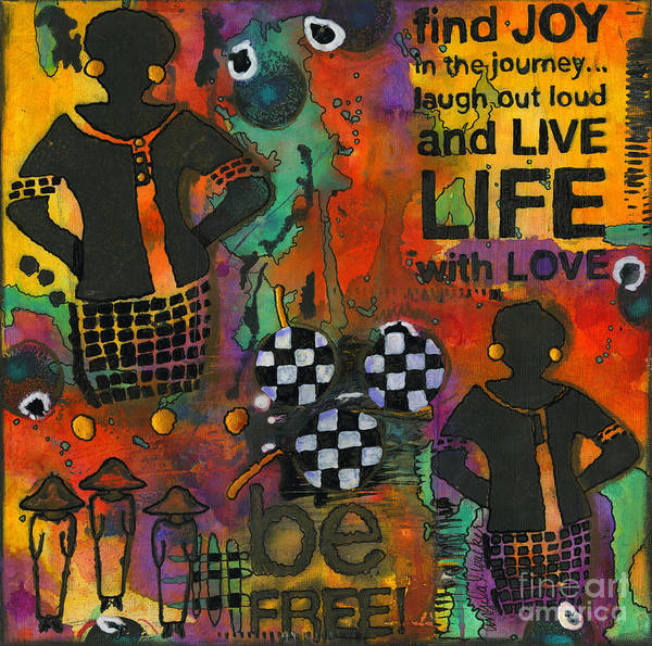 Wall Art - Mixed Media - Finding Joy In My Journey by Angela L Walker