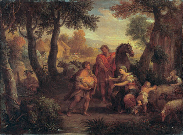 Romulus And Remus Painting - Finding Of Romulus And Remus by Attributed to Andrea Locatelli