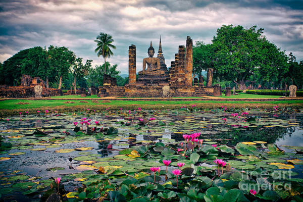 Photograph - Finding Peace At Wat Mahathat  by Sam Antonio Photography