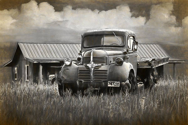 Photograph - Fine Art Image Of Vintage Dodge Truck by Randall Nyhof