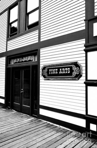Photograph - Fine Art In Skagway Bw by Mel Steinhauer