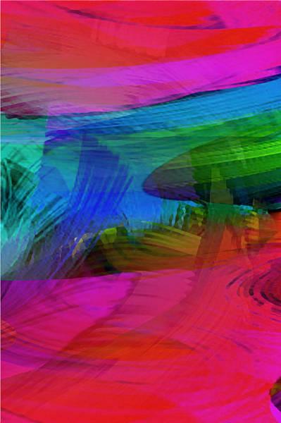 Painting - Fine Art Painting Original Digital Abstract Warp10a Triptych IIi by G Linsenmayer