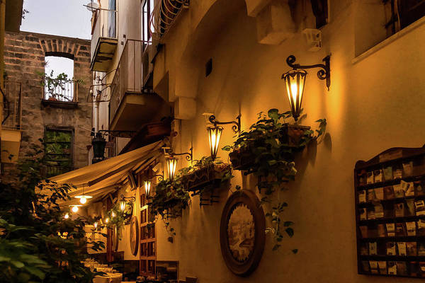 Digital Art - Fine Dining In Sorrento Italy by Georgia Mizuleva
