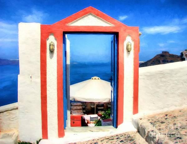 Photograph - Fine Dining On Santorini by Mel Steinhauer