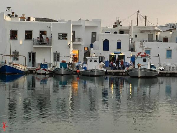 Photograph - Fine Evening Naoussa Island by Colette V Hera  Guggenheim