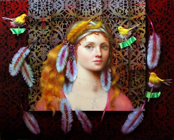 Wall Art - Painting - Fine Feathered Friends by Loretta Fasan