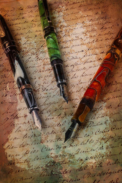Ink Pen Photograph - Fine Fountain Pens by Garry Gay