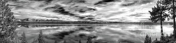 Wall Art - Photograph - Fine Mist Lake Tahoe Black And White by Vance Fox