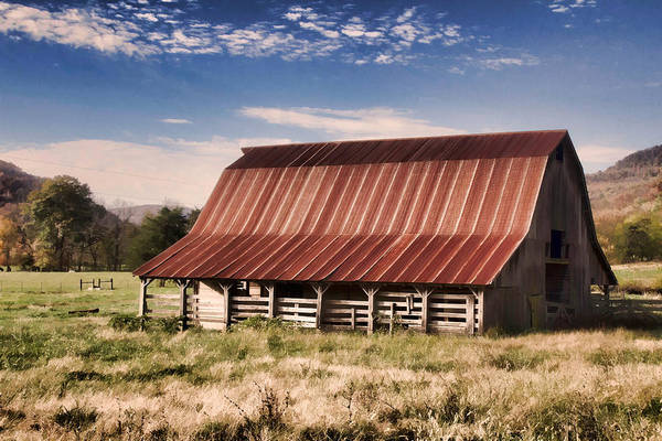 Wall Art - Digital Art - Fine Old Barn by Lana Trussell