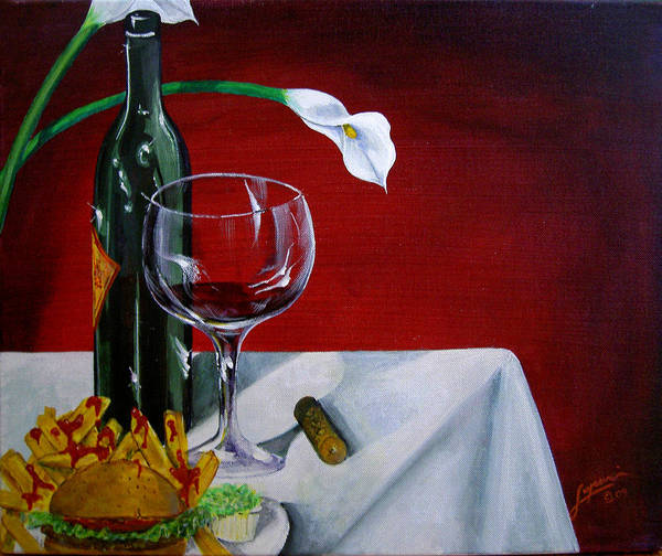 Painting - Fine Wine by Thomas Lupari