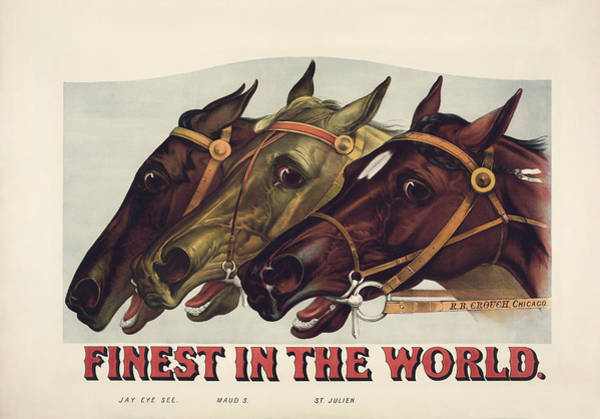 Ives Mixed Media - Finest In The World - Vintage Horse Racing Print by War Is Hell Store