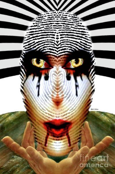 Digital Art - Fingerprint Mask by Rafael Salazar