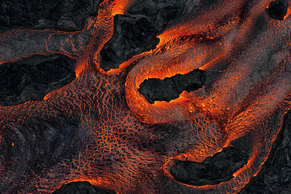 Fissure Photograph - Fingers Of Lava by Christopher Johnson