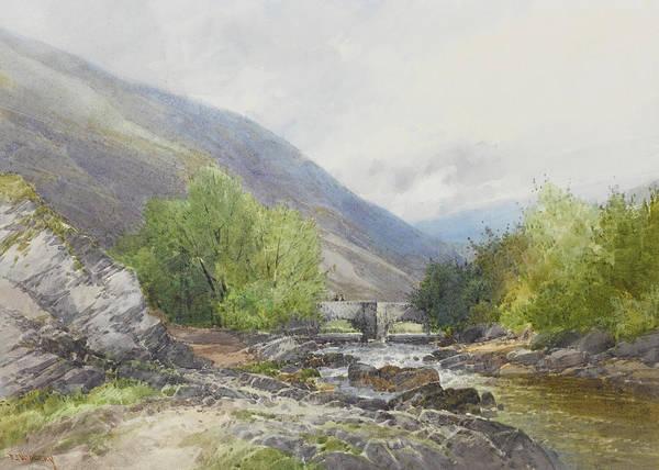 Moored Painting - Fingle Bridge On The Teign by Frederick John Widgery