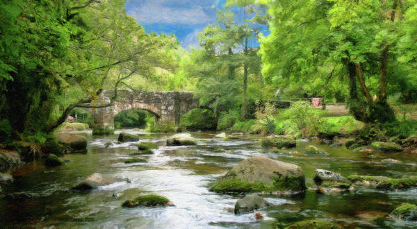 Painting - Fingle Bridge - P4a16007 by Dean Wittle