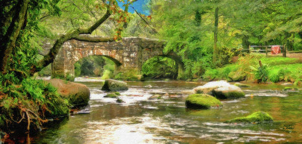 Painting - Fingle Bridge - P4a16013 by Dean Wittle
