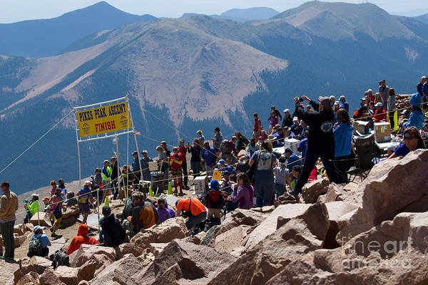Photograph - Finish Line At Pikes Peak Marathon And Ascent by Steve Krull