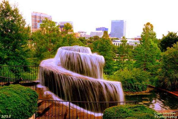 Photograph - Finlay Park Fountain Summertime by Lisa Wooten