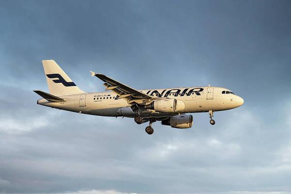 Wall Art - Mixed Media - Finnair Airbus A319-112 by Smart Aviation