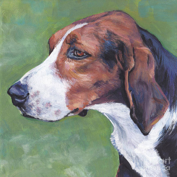 Wall Art - Painting - Finnish Hound by Lee Ann Shepard