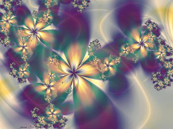Purple Haze Digital Art - Fior Pathways by Lauren Goia
