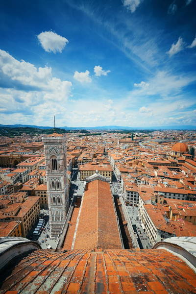 Photograph - Fiore Cathedral Dome Top View by Songquan Deng