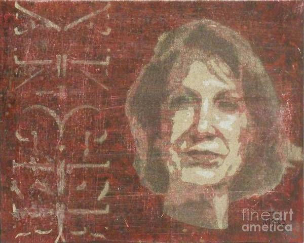 Election 2016 Painting - Fiorina Anger by Tom McGill