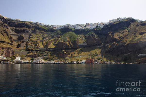 Photograph - Fira Harbour by Jeremy Hayden