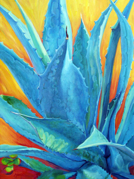 Agave Painting - Fire And Ice by Athena Mantle