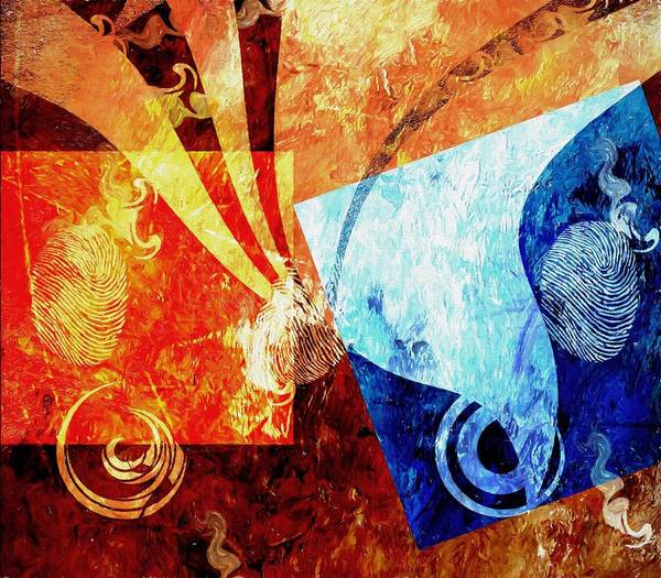 Rights Mixed Media - Fire And Ice by Dan Sproul