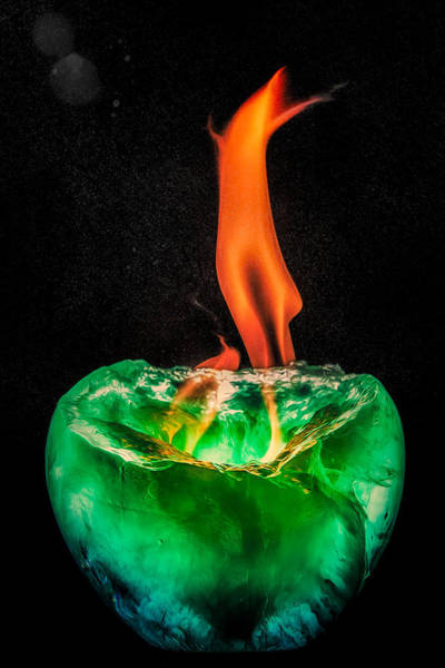 Photograph - Fire And Ice Tall Flame by Rikk Flohr