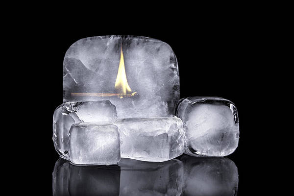 Block Photograph - Fire And Ice by Tom Mc Nemar