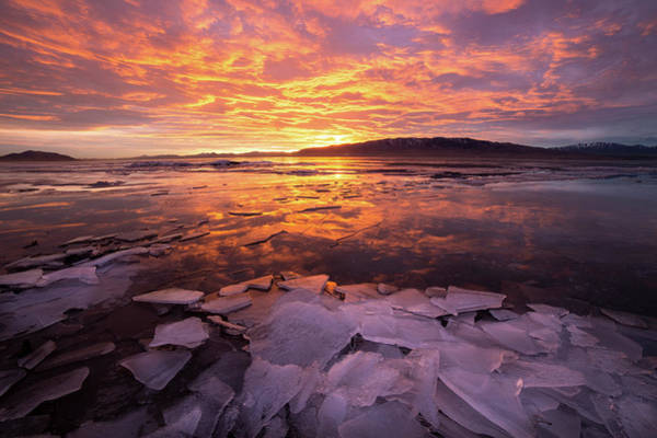 Photograph - Fire And Ice by Wesley Aston