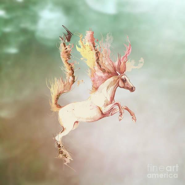 Wall Art - Digital Art - Fire And Water by Angel Ciesniarska