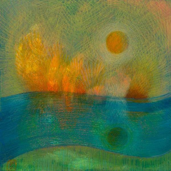 Painting - Fire And Water by Lynn Bywaters