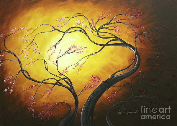 Wall Art - Painting - Fire Blossoms by Megan Duncanson